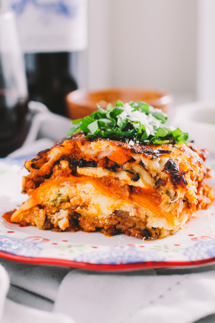 best ever eggplant lasagna via playswellwithbutter | with its layers of hearty bolognese, creamy ricotta, melty mozzarella, & grilled eggplant, eggplant lasagna the perfect make-ahead dish for a busy weeknight. with less than one lasagna noodle per serving enjoy all the best flavors of lasagna with none of the guilt.