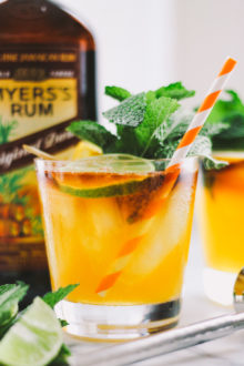 perfect mai tais via playswellwithbutter   your hawaiian vacation may be over but your enjoyment of tropical cocktails doesn't have to be! make a mai tai at home easily with ingredients you already have at home!