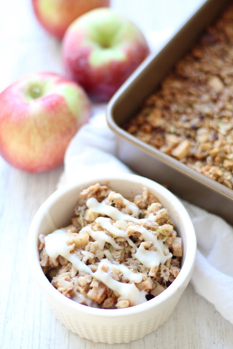 zucchini apple baked oatmeal via toast & thyme & 24 more make-ahead meals via playswellwithbutter | with just a little planning in advance & a little organization over the weekend, you can set yourself up with a week's worth of delicious meals that will come together faster than you could order pizza or pick up chipotle.