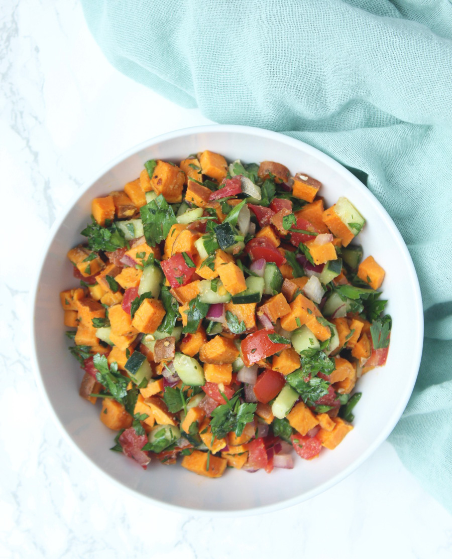 sweet potato tabouli via eat the gains & 24 more make-ahead meals via playswellwithbutter | with just a little planning in advance & a little organization over the weekend, you can set yourself up with a week's worth of delicious meals that will come together faster than you could order pizza or pick up chipotle.
