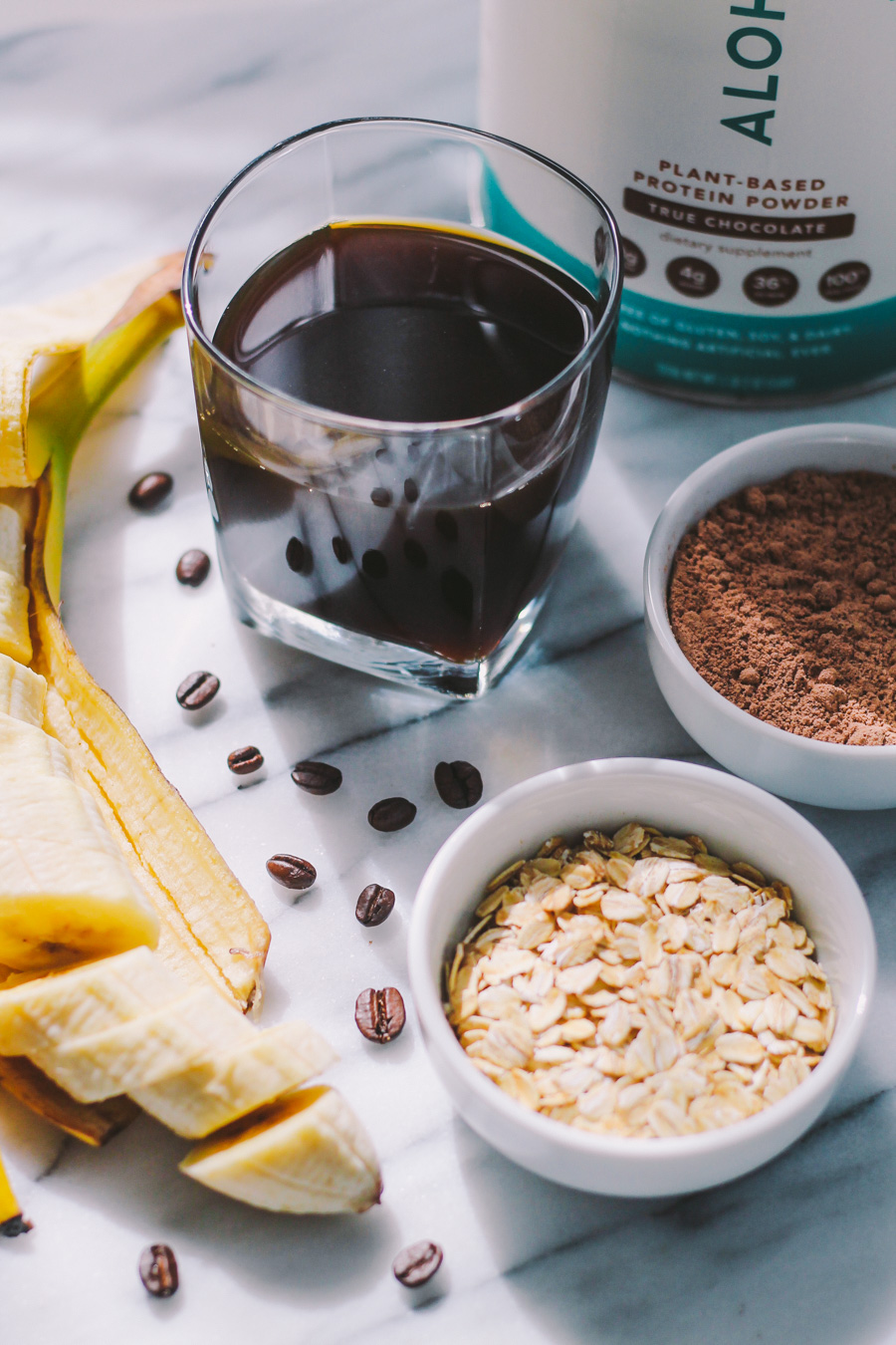 mocha protein smoothie & 24 more make-ahead meals via playswellwithbutter | with just a little planning in advance & a little organization over the weekend, you can set yourself up with a week's worth of delicious meals that will come together faster than you could order pizza or pick up chipotle.