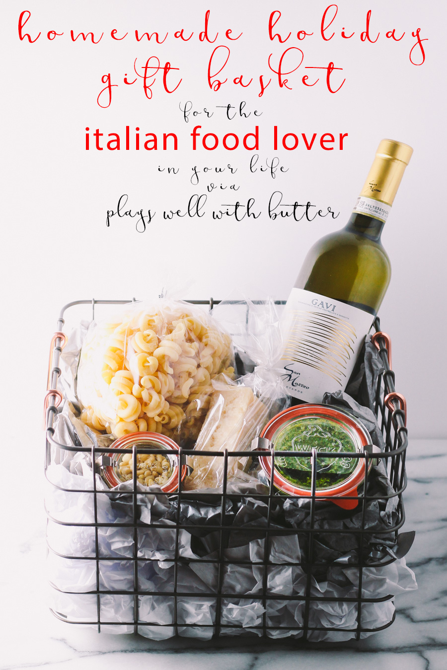 italian gift basket for the holidays via playswellwithbutter