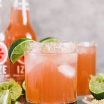 three ingredient weeknight palomas with izze sparkling grapefruit