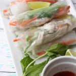 georgie's shredded chicken spring rolls
