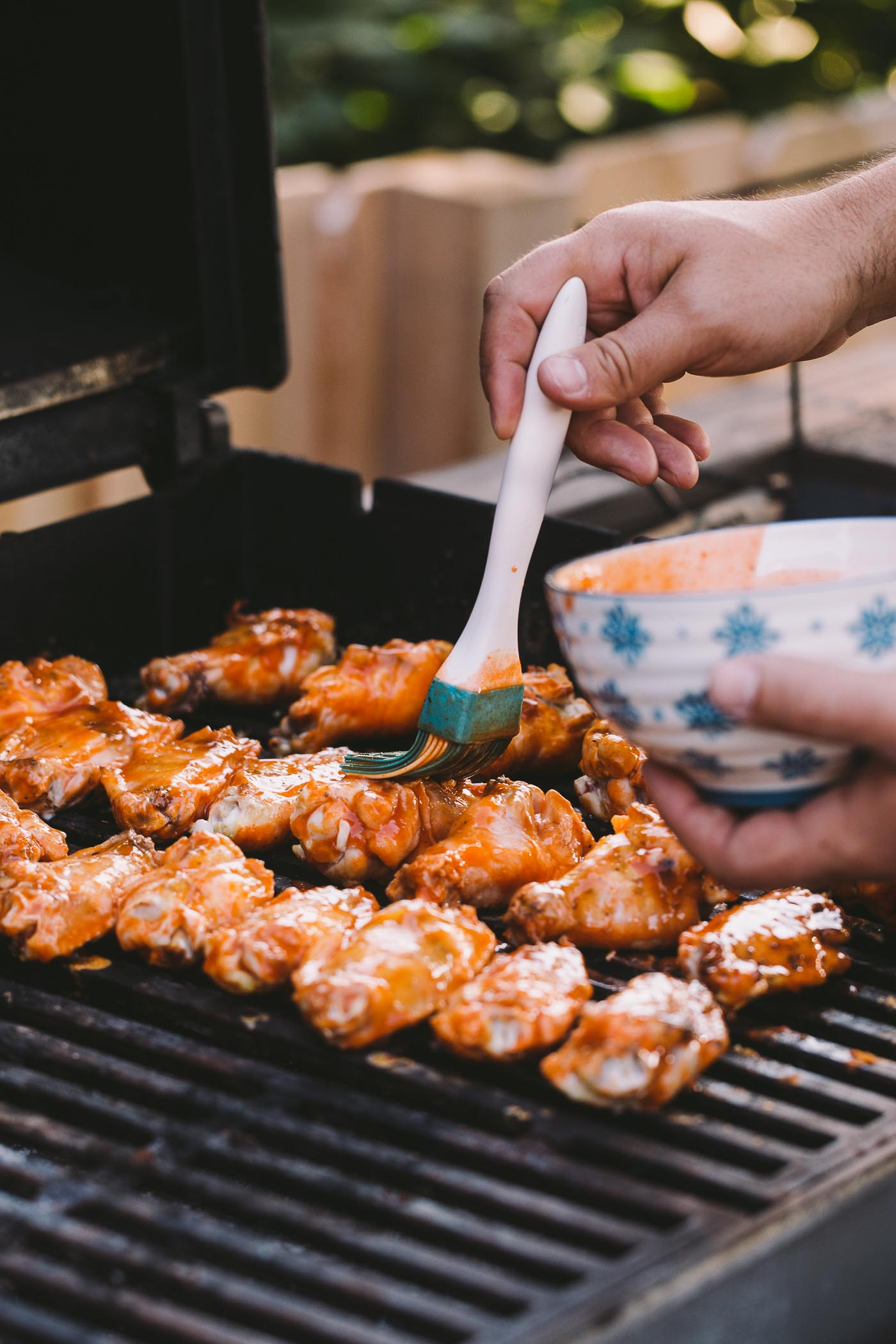 how to cook crispy chicken wings on the grill