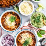 chickpea chipotle turkey chili with sweet potatoes & kale.