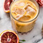 blood orange cold brew iced coffee