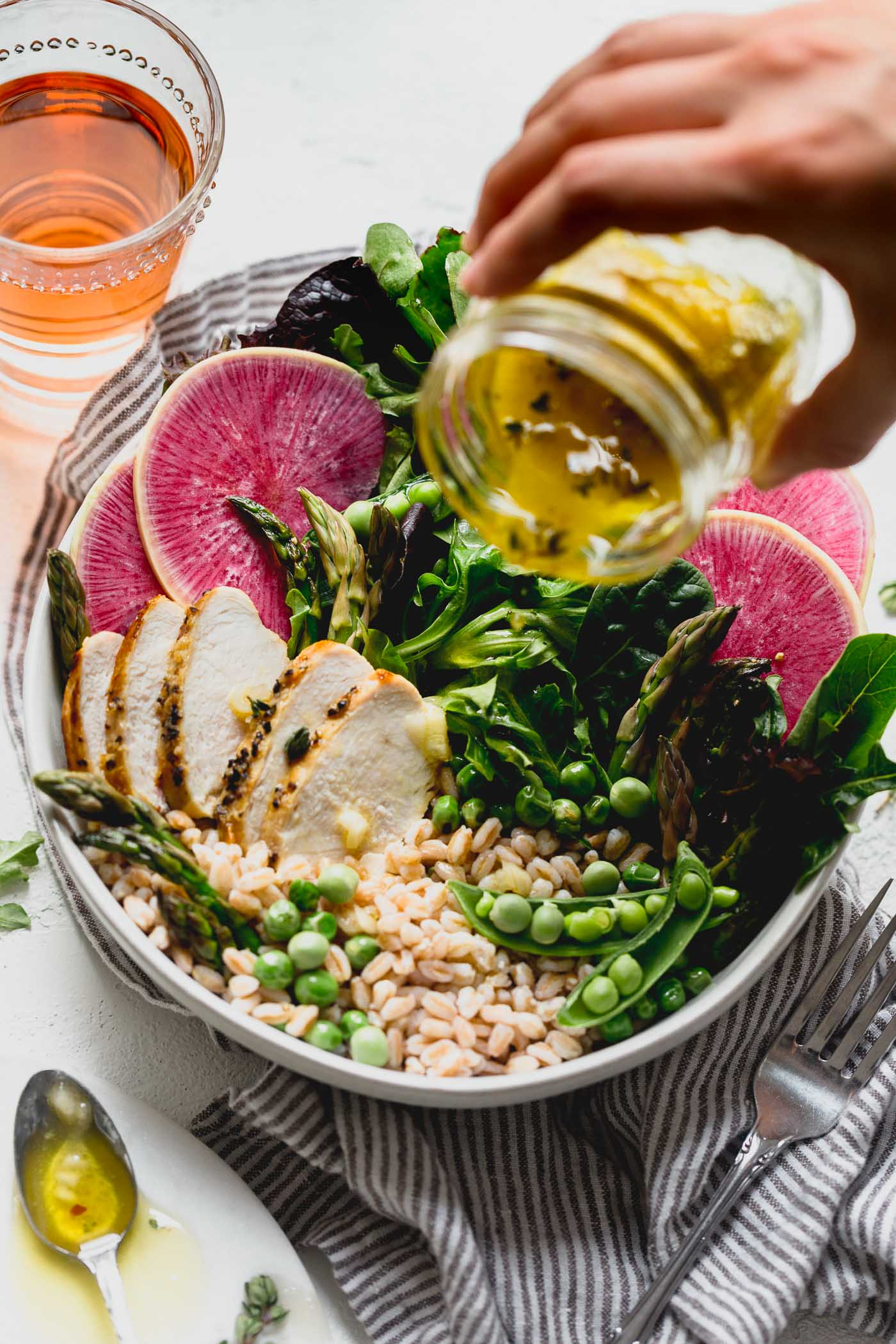 Spring Goddess Grain Bowl With Farro Amp Asparagus Plays Well With Butter