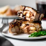 stuffed grilled pork chops with prosciutto & asiago