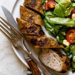grilled sausage + the perfect one-bowl salad