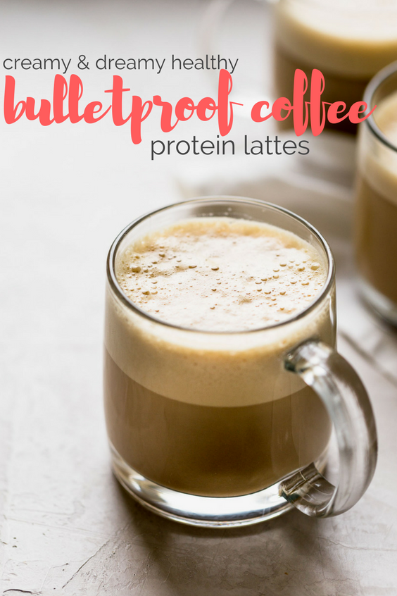 a bulletproof coffee protein latte recipe for a dreamy, creamy, healthy latte that is beyond delicious. this healthy bulletproof coffee latte is full of satisfying protein from your favorite whey or plant-based protein powder & healthy fats from coconut oil. the best part is how completely easy to make at home! paleo friendly. whole30 friendly. #playswellwithbutter #bulletproofcoffeerecipe #proteinlatte #proteindrink #healthycoffeerecipe #healthybreakfast #keto #ketodrink #paleobreakfast #paleodrink