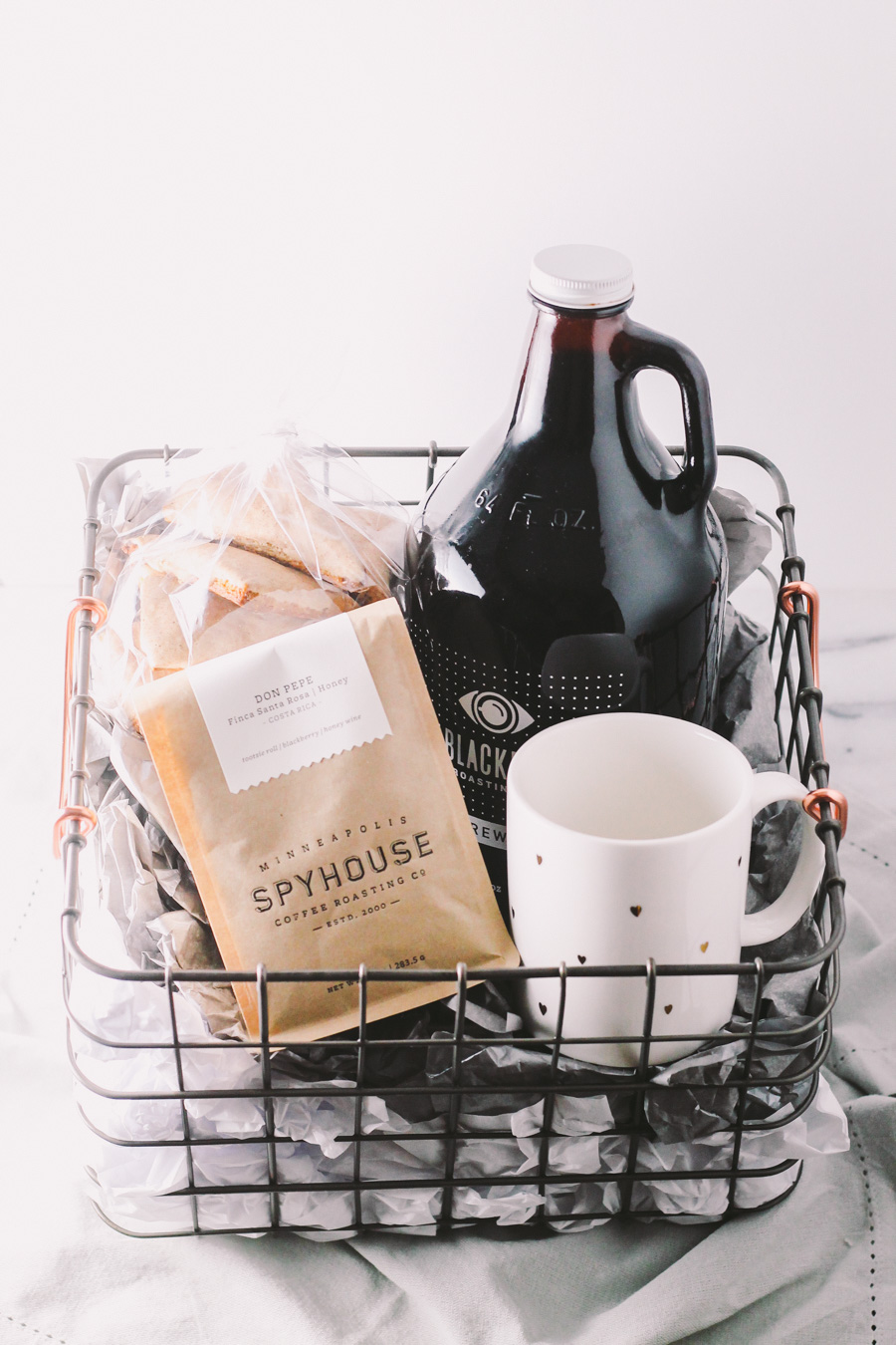 ... treat the coffee lover in your life with a homemade coffee gift basket this holiday season