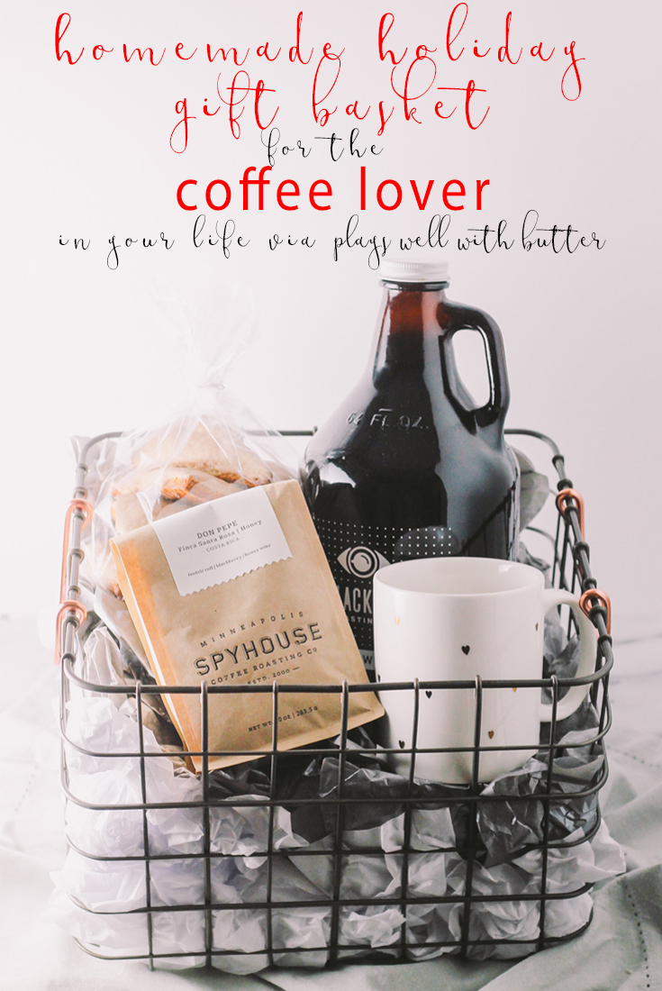 ... treat the coffee lover in your life with a homemade coffee gift basket this holiday season. '