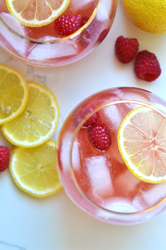 raspberry lemon kombucha sangria + 6 more farmer's market recipes | healthy recipes, farmer's market produce, fresh recipes, summer food |