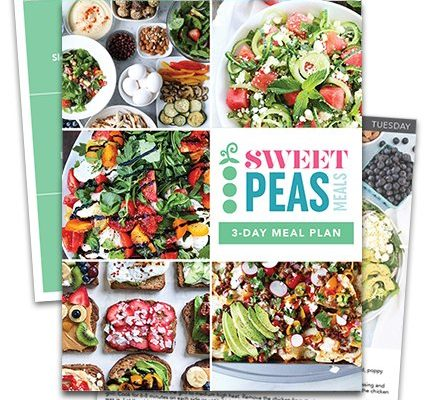Sweet Peas Meals | easy, balanced meal plans for families
