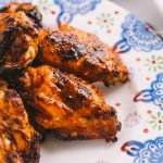 perfectly grilled buffalo chicken wings