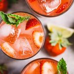spicy strawberry mojitos