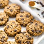 peanut butter breakfast cookies with dark chocolate chunks