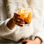 cozy bourbon old fashioneds (with sweet potato simple syrup!)