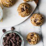 chocolate chip banana bread bliss balls