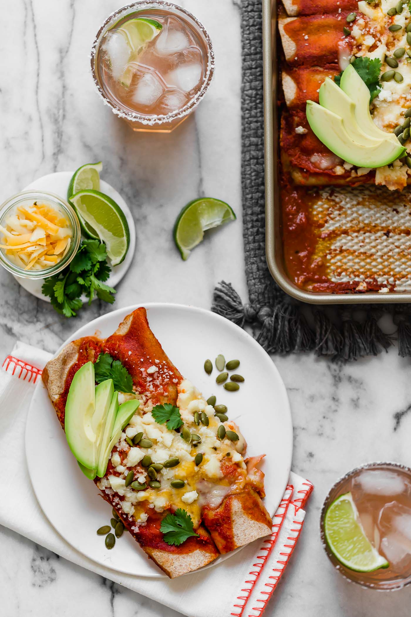 Weeknight Chicken Enchiladas Plays Well With Butter