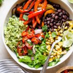 grilled veggie burrito bowls with green rice