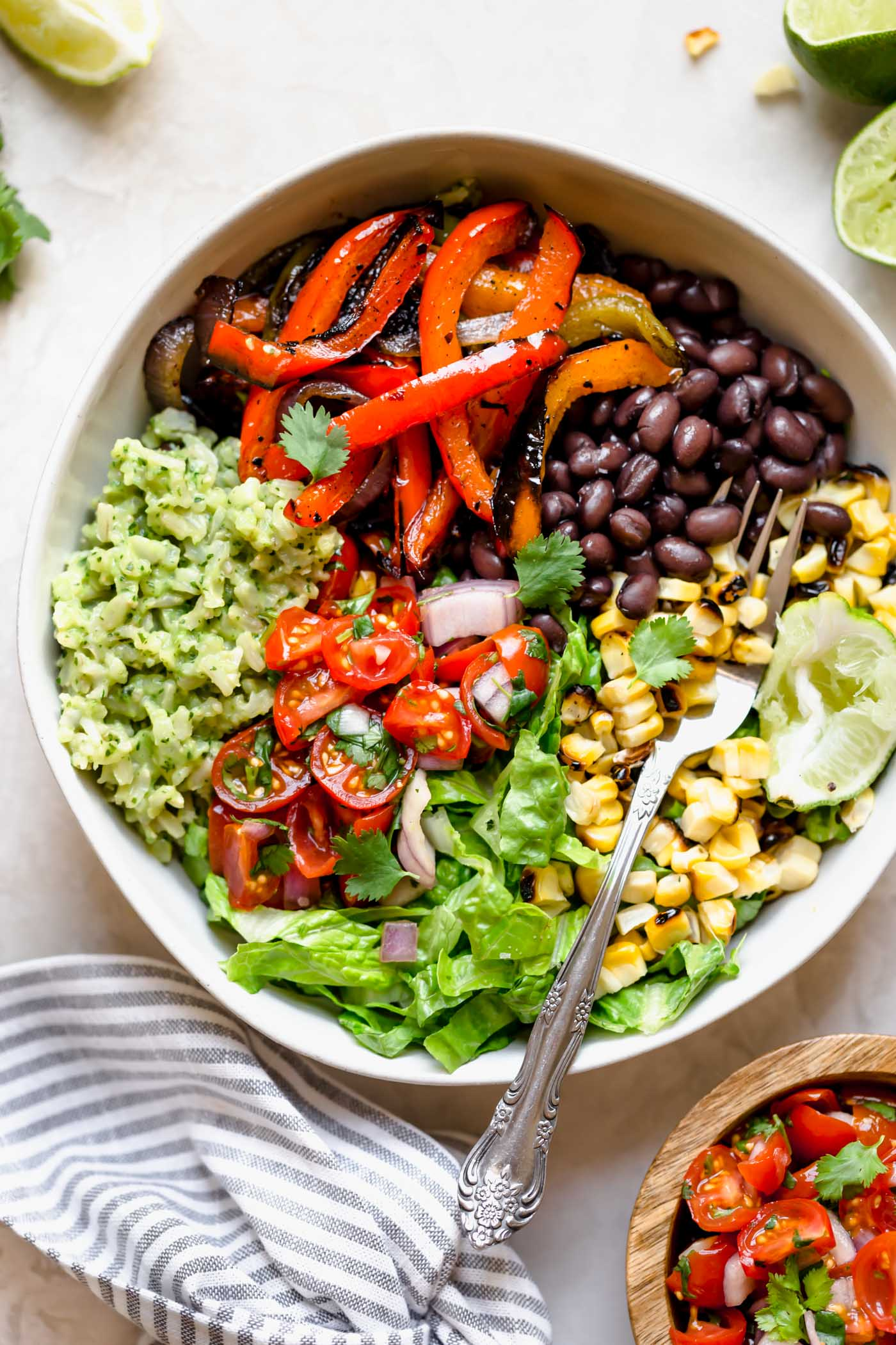 Grilled Veggie Burrito Bowls With Green Rice Plays Well With Butter