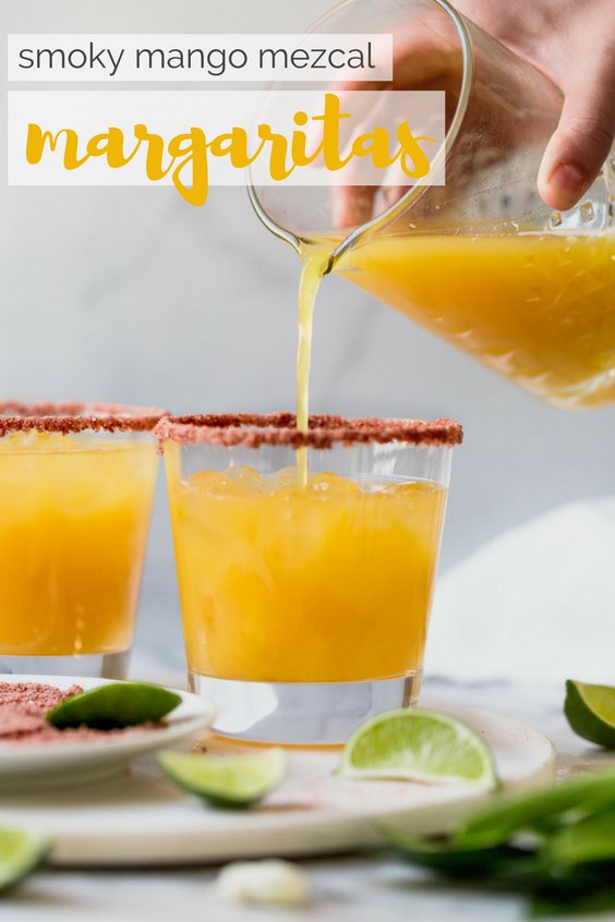 perfectly smoky & sweet, these smoky mango mezcal margaritas are the best way to give your margarita game a little flair! the deep smokiness of mezcal is the perfect pair for sweet mango juice. this smoky mango mezcal margarita recipe is easy to make, & even easier to drink...the only thing missing is chips & guac!
