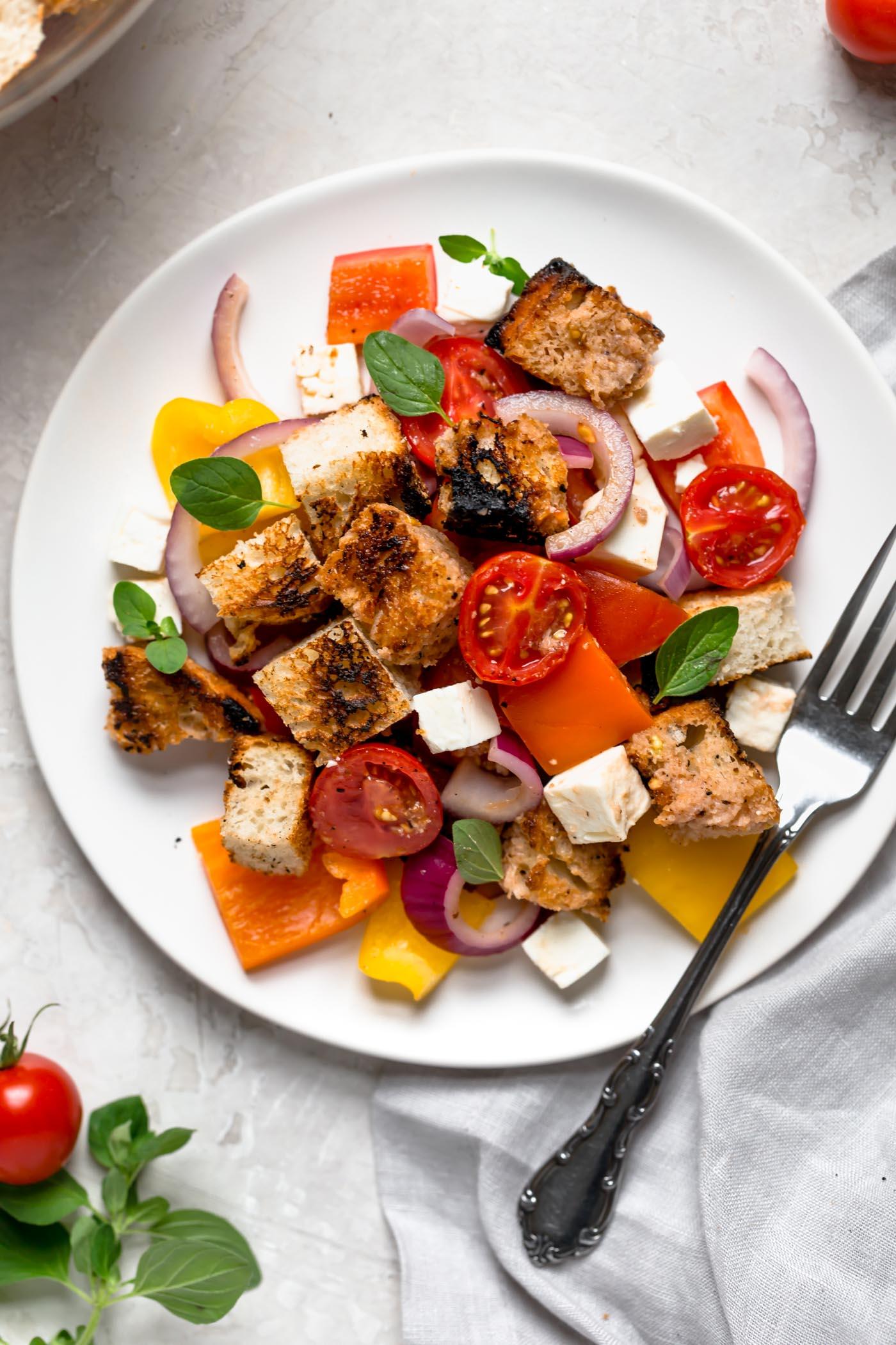 grilled bread panzanella salad recipe