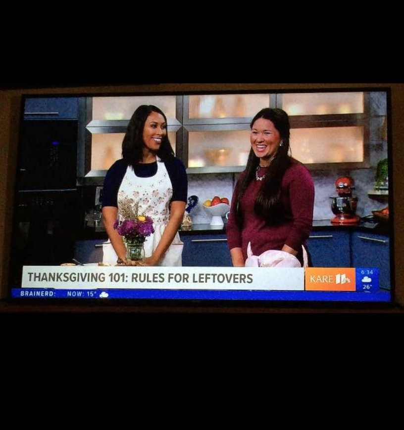 plays well with butter on kare 11 news talking through thanksgiving turkey safety