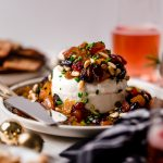 bejeweled holiday marinated goat cheese