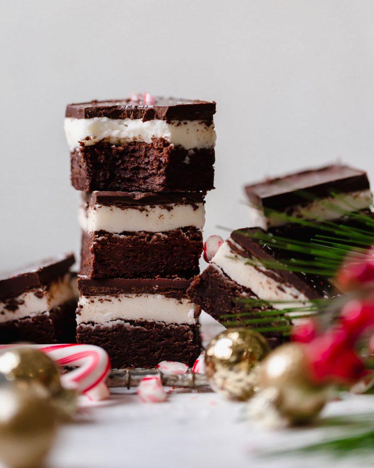 Dark Chocolate Peppermint Brownies