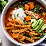 weeknight chicken tortilla soup with sweet potatoes (& beer!!)