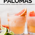 frosé paloma in glass with graphic text overlay for pinterest
