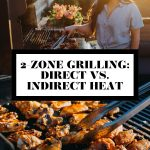 Jess of Plays Well with Butter grilling and a photo of grilled chicken wings and grill tongs with graphic text overlay for Pinterest.