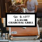 How to light a charcoal grill graphic with text overlay for Pinterest.