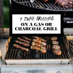 A Gas and Charcoal Grill with graphic text overlay for Pinterest.