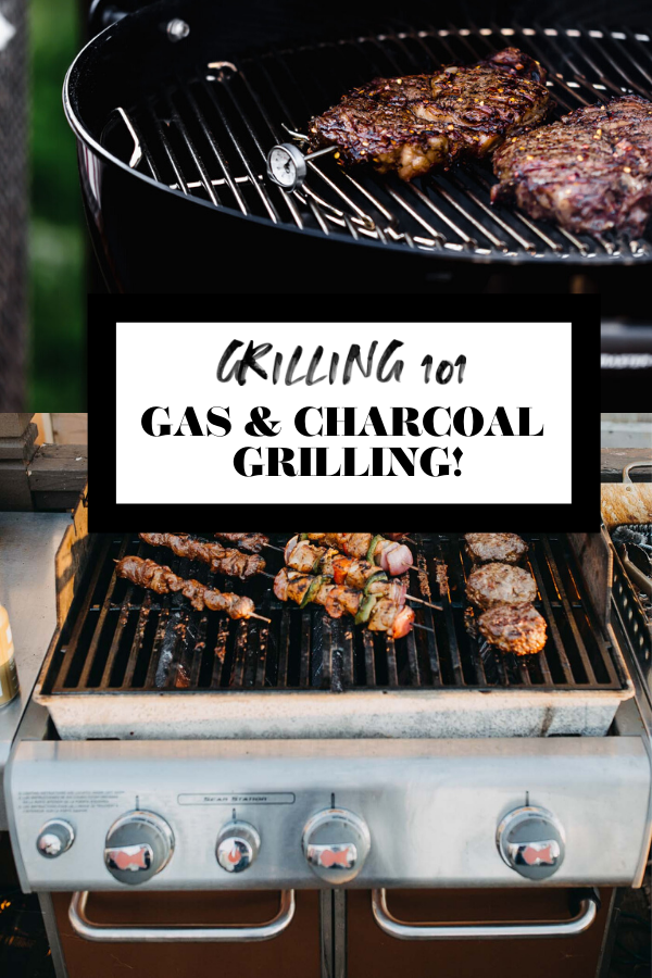 Grilling 101 graphic with text overlay for Pinterest.