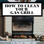 How to deep clean a gas grill graphic with text overlay for Pinterest.