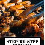 Step-by-step how to light a grill graphic with text overlay for Pinterest.