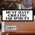 Must have grilling equipment graphic with text overlay for Pinterest.