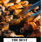 The best grill tools to have at home graphic with text overlay for Pinterest.
