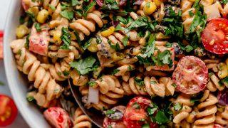 vegan southwest pasta salad recipe