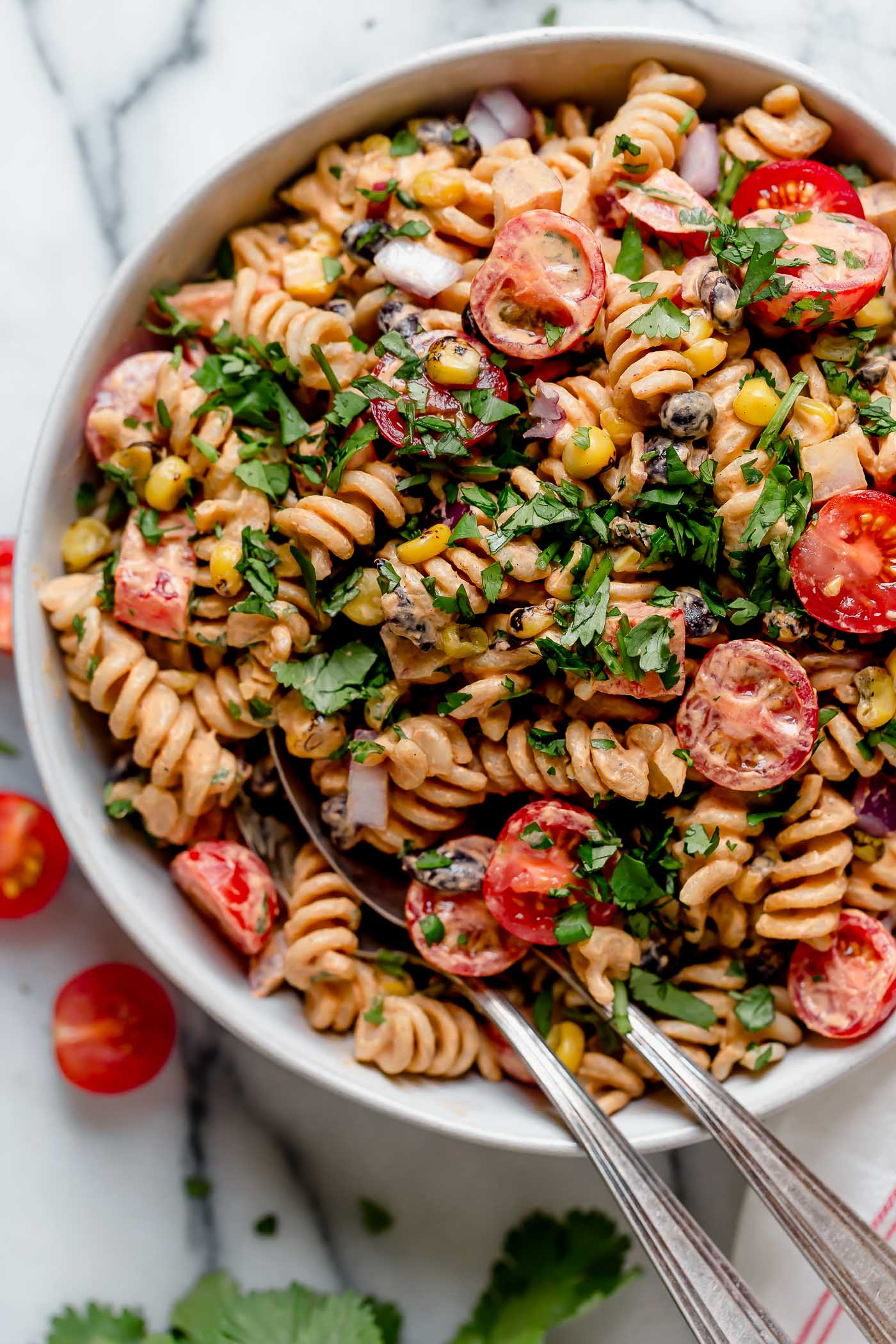 Vegan Southwest Pasta Salad Recipe Make Ahead Plays Well With