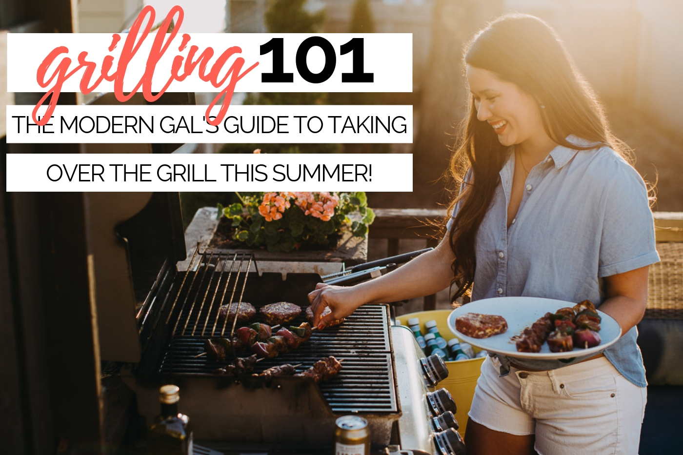 grilling 101: everything you need to know to start grilling this summer! grilling can be intimidating, but it's so much easier than it seems - i promise! this post will help you go from newbie to grillmaster in no time flat. read on to learn about must-have grilling equipment, how to light your grill, how to clean your grill, & to understand grilling temperatures. #playswellwithbutter #grilling #grillingtips #grillingstation #outdoorgrilling #grillingDIY #howtogrill #grillingforbeginners