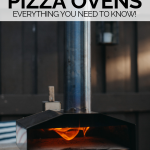 photo of ooni pizza oven with graphic overlay for pinterest
