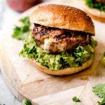 Stuffed Southwest Turkey Burgers with Pepper Jack & Guacamole