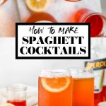How to Make Spaghett Drink with graphic text overlay for Pinterest.