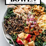 Autumn Harvest Bowls with graphic text overlay for Pinterest.