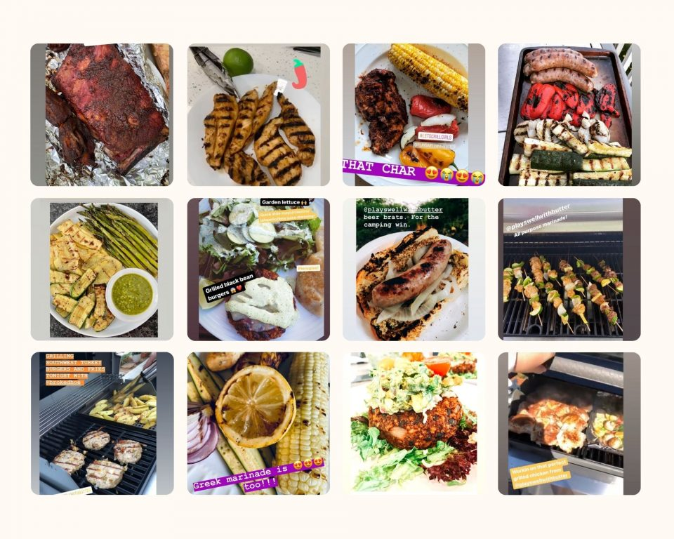 2020 Grilling Challenge Entries Collage.